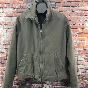 Hollister Canvas Jacket Distressed LARGE